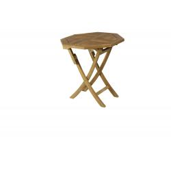 Mesa octogonal plegable.