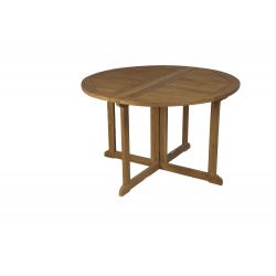 Mesa redonda con alas plegable