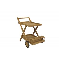 Carro bar de teca
